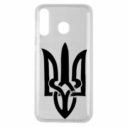 Чехол для Samsung M30 Coat of arms of Ukraine torn inside