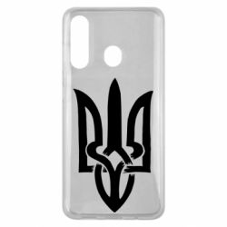 Чехол для Samsung M40 Coat of arms of Ukraine torn inside