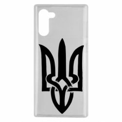 Чехол для Samsung Note 10 Coat of arms of Ukraine torn inside
