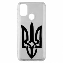 Чехол для Samsung M30s Coat of arms of Ukraine torn inside