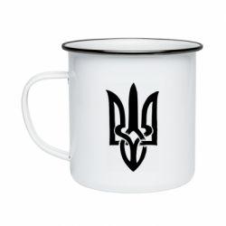 Кружка эмалированная Coat of arms of Ukraine torn inside