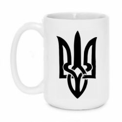 Кружка 420ml Coat of arms of Ukraine torn inside