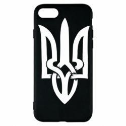 Чехол для iPhone 7 Coat of arms of Ukraine torn inside