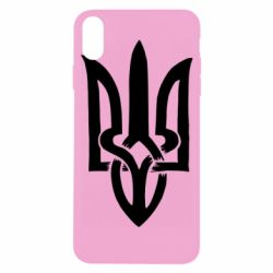 Чехол для iPhone X/Xs Coat of arms of Ukraine torn inside