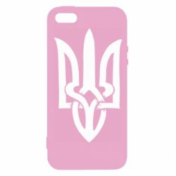 Чехол для iPhone5/5S/SE Coat of arms of Ukraine torn inside