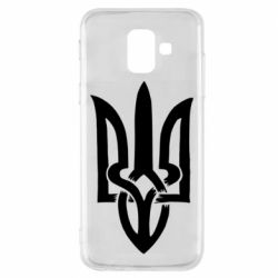 Чехол для Samsung A6 2018 Coat of arms of Ukraine torn inside