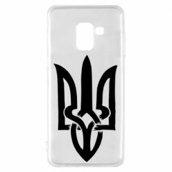 Чехол для Samsung A8 2018 Coat of arms of Ukraine torn inside