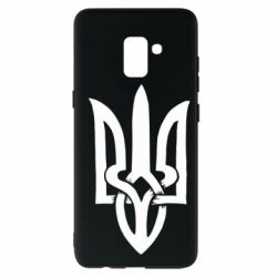 Чехол для Samsung A8+ 2018 Coat of arms of Ukraine torn inside