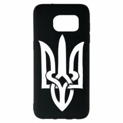 Чехол для Samsung S7 EDGE Coat of arms of Ukraine torn inside