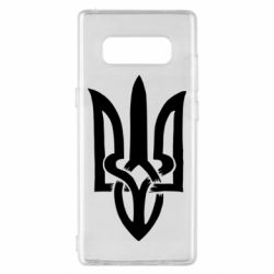 Чехол для Samsung Note 8 Coat of arms of Ukraine torn inside