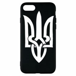 Чехол для iPhone 8 Coat of arms of Ukraine torn inside
