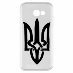 Чехол для Samsung A5 2017 Coat of arms of Ukraine torn inside