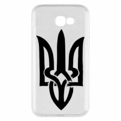 Чехол для Samsung A7 2017 Coat of arms of Ukraine torn inside