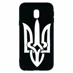 Чехол для Samsung J3 2017 Coat of arms of Ukraine torn inside