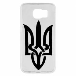 Чехол для Samsung S6 Coat of arms of Ukraine torn inside