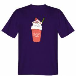 Чоловіча футболка Cocktail cat and strawberry