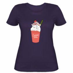 Жіноча футболка Cocktail cat and strawberry