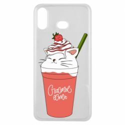 Чохол для Samsung A6s Cocktail cat and strawberry