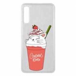 Чохол для Samsung A7 2018 Cocktail cat and strawberry