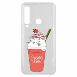 Чехол для Samsung A9 2018 Cocktail cat and strawberry