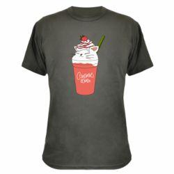 Камуфляжна футболка Cocktail cat and strawberry