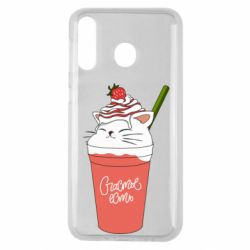 Чохол для Samsung M30 Cocktail cat and strawberry