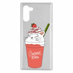 Чохол для Samsung Note 10 Cocktail cat and strawberry