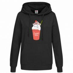 Толстовка жіноча Cocktail cat and strawberry