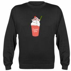 Реглан (світшот) Cocktail cat and strawberry