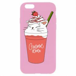 Чохол для iPhone 6 Plus/6S Plus Cocktail cat and strawberry