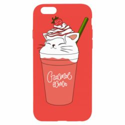 Чохол для iPhone 6/6S Cocktail cat and strawberry