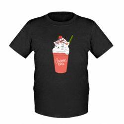 Дитяча футболка Cocktail cat and strawberry