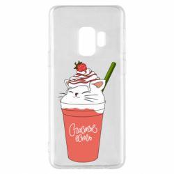 Чохол для Samsung S9 Cocktail cat and strawberry