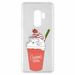 Чохол для Samsung S9+ Cocktail cat and strawberry