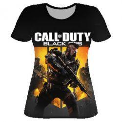 Женская 3D футболка CoD black ops IIII - FatLine