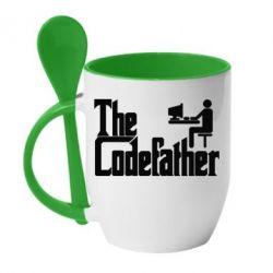 Кружка с керамической ложкой Codefather