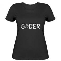 Жіноча футболка Coder