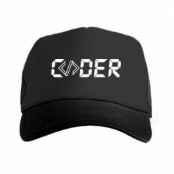 Кепка-тракер Coder