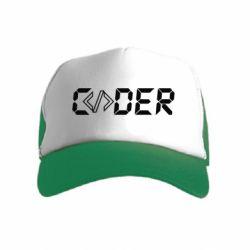 Дитяча кепка-тракер Coder