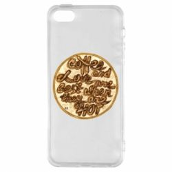 Чехол для iPhone5/5S/SE Coffee and love are best when they are hot