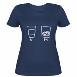 Жіноча футболка Coffee and whiskey