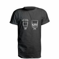 Подовжена футболка Coffee and whiskey