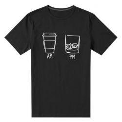 Чоловіча стрейчева футболка Coffee and whiskey
