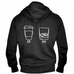 Чоловіча толстовка на блискавці Coffee and whiskey