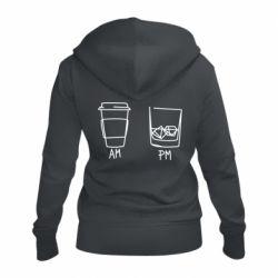 Жіноча толстовка на блискавці Coffee and whiskey