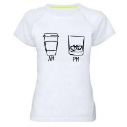 Жіноча спортивна футболка Coffee and whiskey