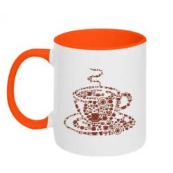 Кружка двоколірна 320ml Coffee from the cups