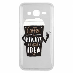 Чехол для Samsung J5 2015 Coffee is always a good idea.