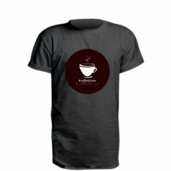 Удлиненная футболка #CoffeLover