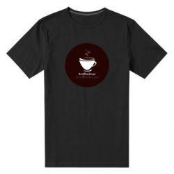 Мужская стрейчевая футболка #CoffeLover